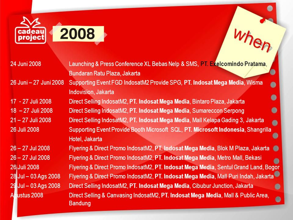 24 Juni 2008 Launching & Press Conference XL Bebas Nelp & SMS, PT
