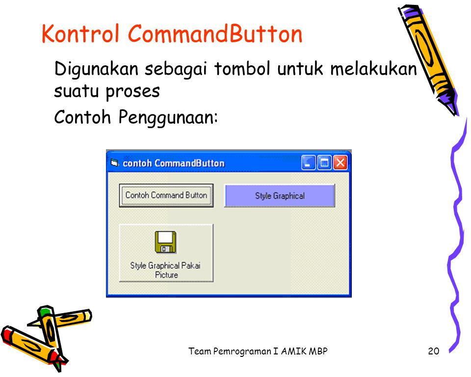 Kontrol CommandButton