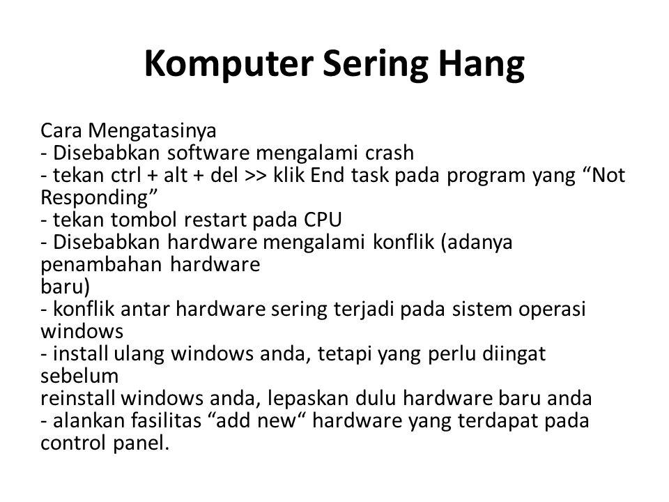 Komputer Sering Hang