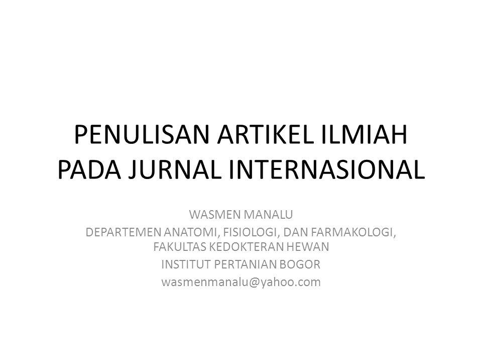 PENULISAN ARTIKEL ILMIAH PADA JURNAL INTERNASIONAL