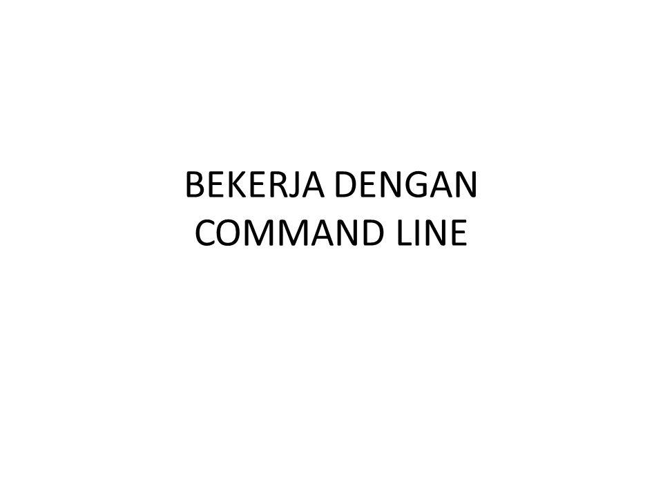 BEKERJA DENGAN COMMAND LINE