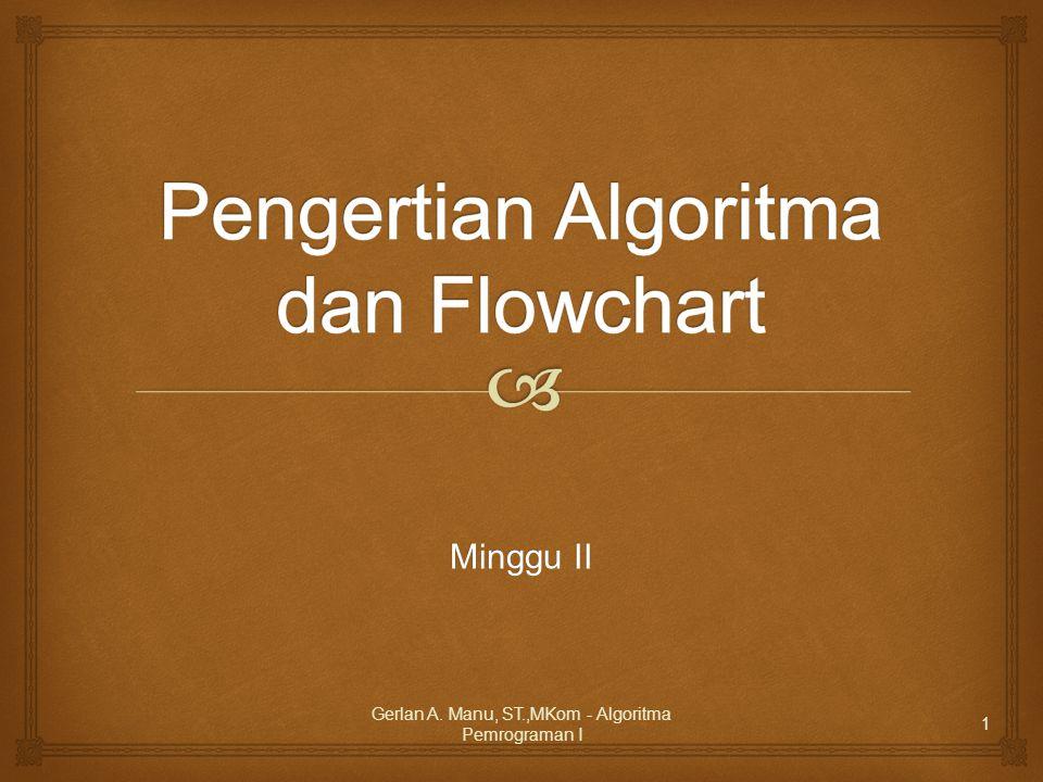 Pengertian Algoritma dan Flowchart