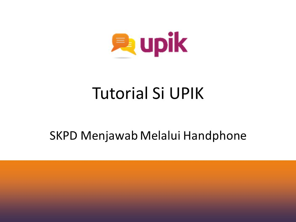 SKPD Menjawab Melalui Handphone