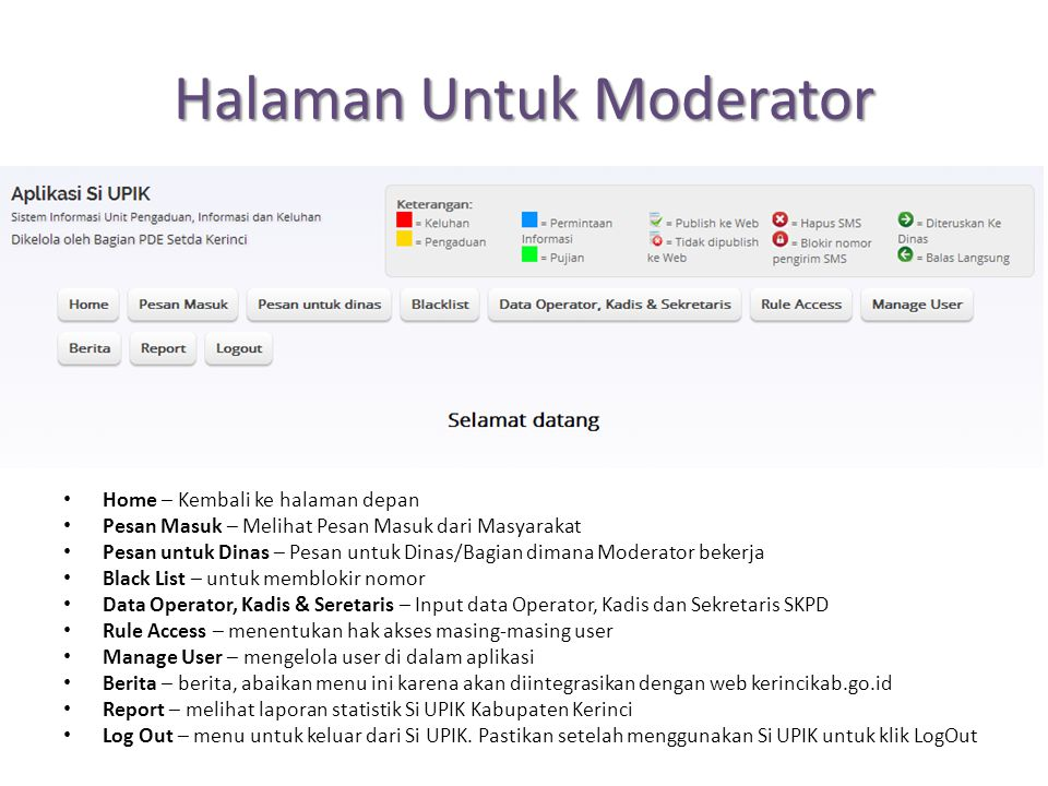 Halaman Untuk Moderator