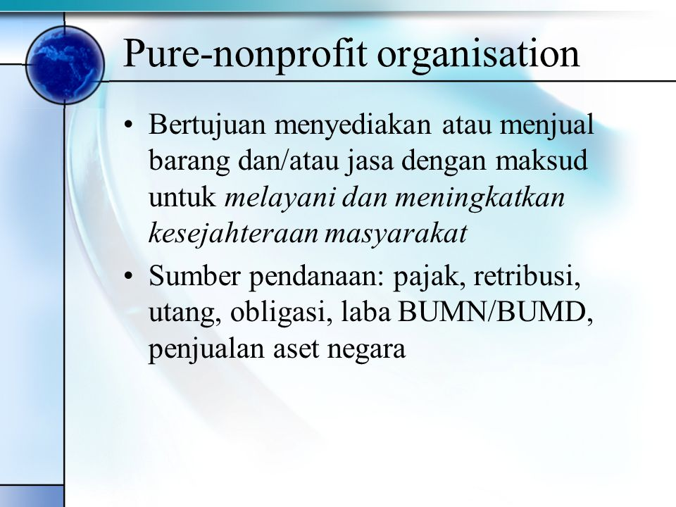 Pure-nonprofit organisation