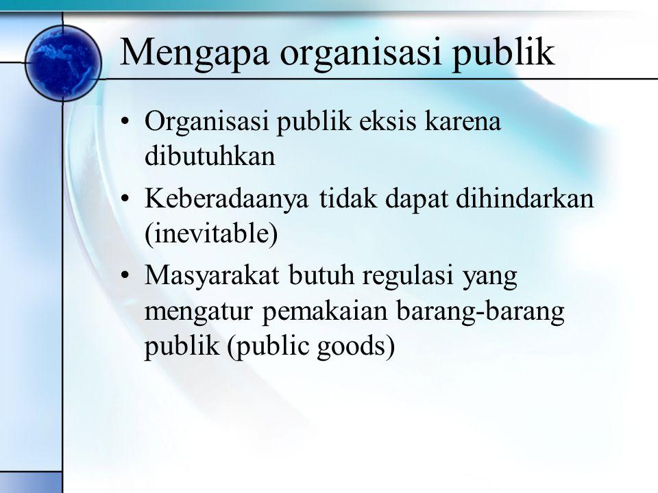 Mengapa organisasi publik