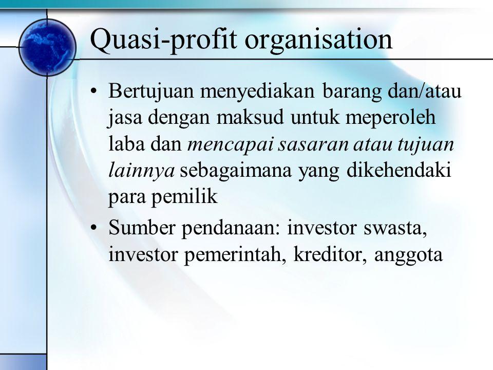 Quasi-profit organisation