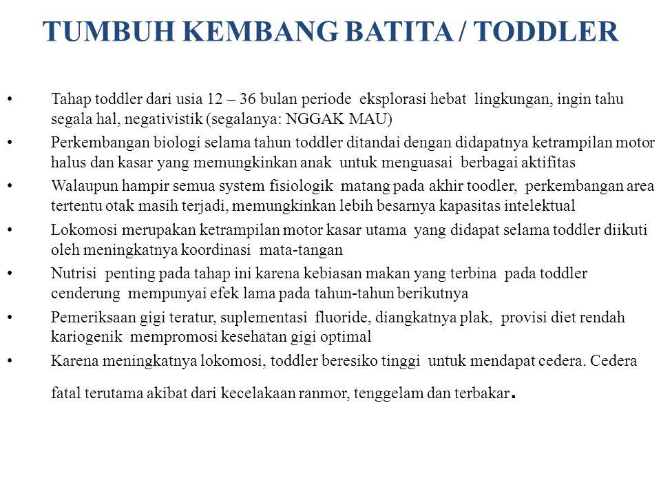 TUMBUH KEMBANG BATITA / TODDLER
