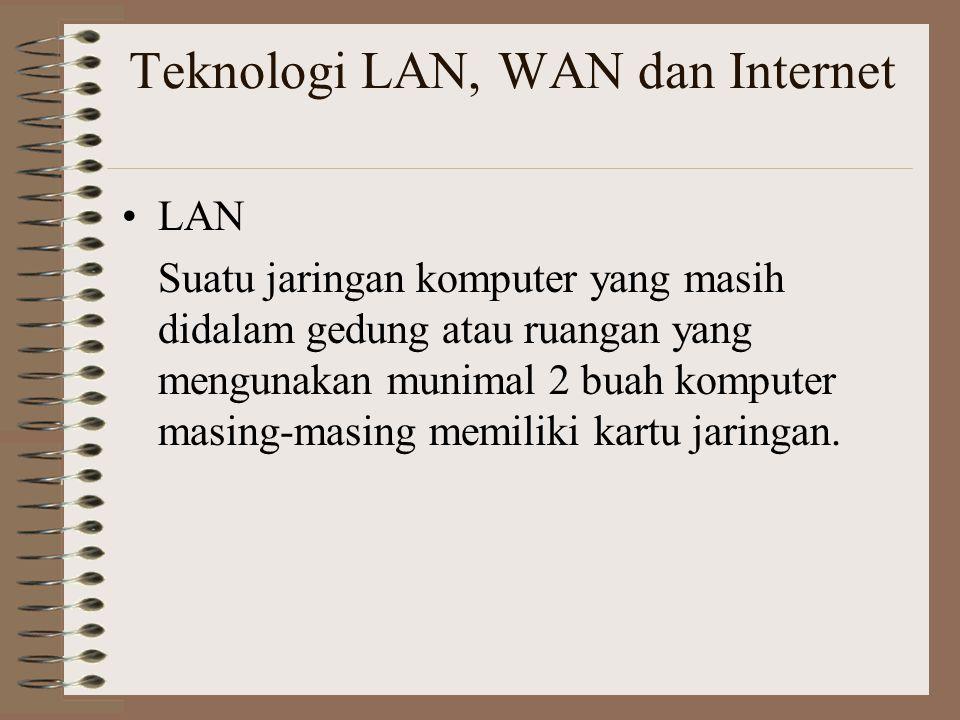 Teknologi LAN, WAN dan Internet