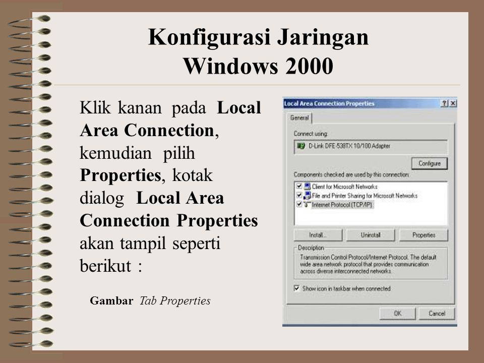 Konfigurasi Jaringan Windows 2000