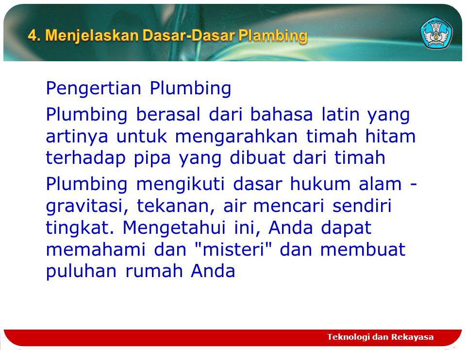 4. Menjelaskan Dasar-Dasar Plambing