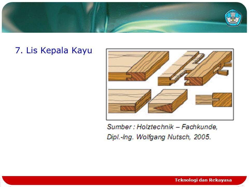 7. Lis Kepala Kayu Teknologi dan Rekayasa