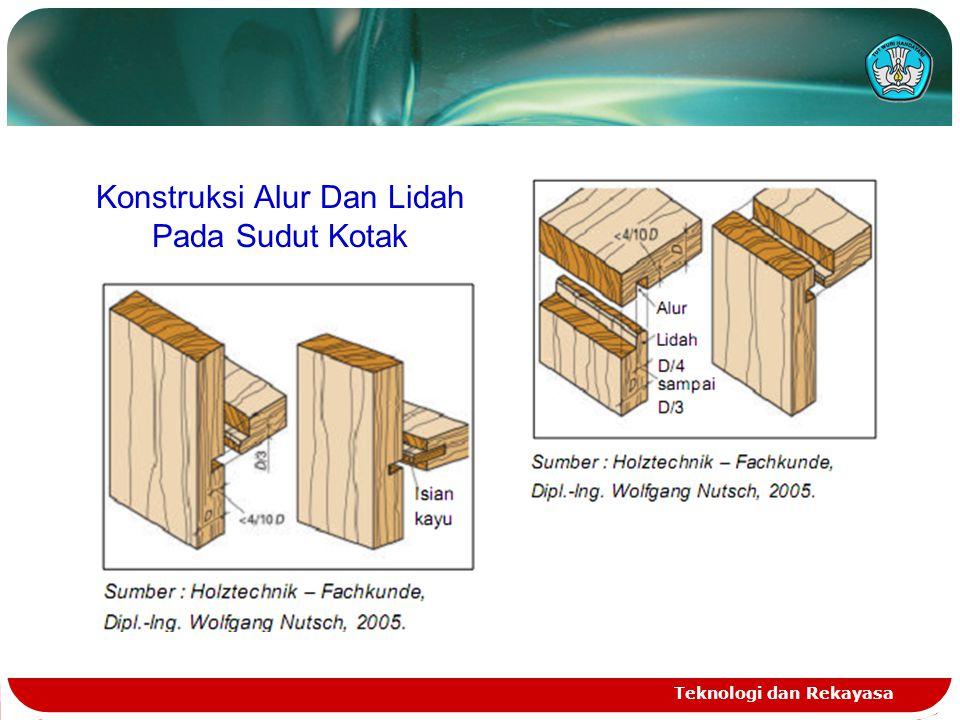 Konstruksi Alur Dan Lidah Pada Sudut Kotak