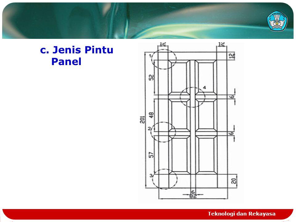c. Jenis Pintu Panel Teknologi dan Rekayasa