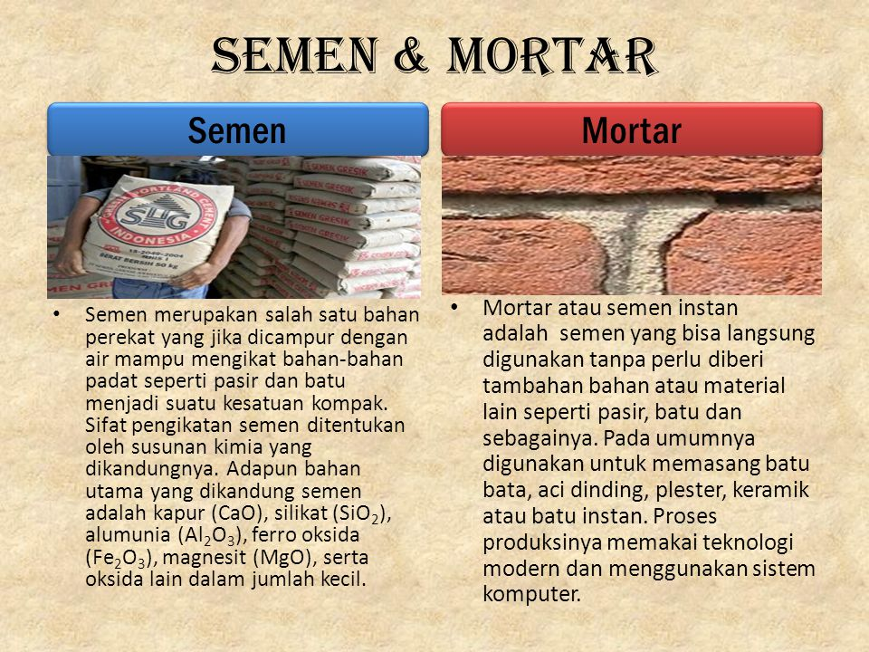 Semen & Mortar Semen Mortar