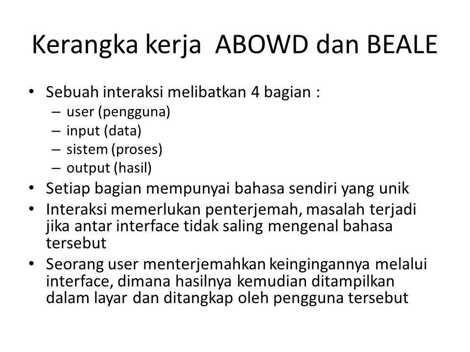 Kerangka kerja ABOWD dan BEALE
