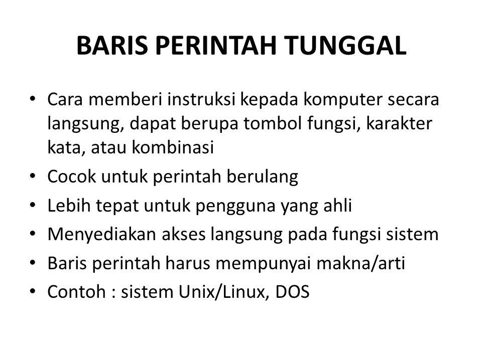 BARIS PERINTAH TUNGGAL
