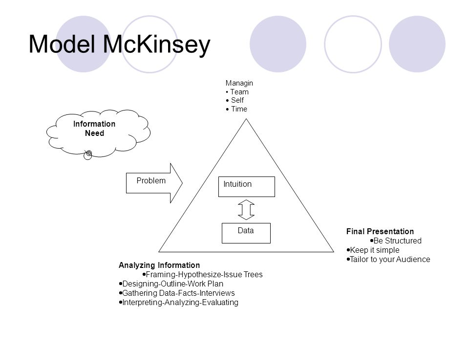 Model McKinsey Information Need Problem Intuition Data