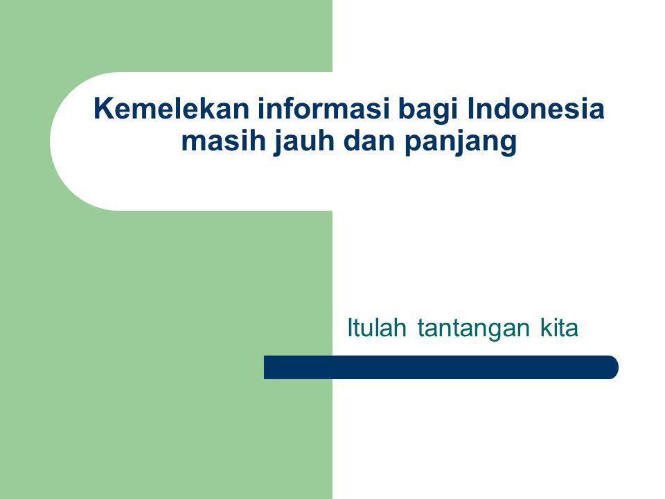 Kemelekan informasi bagi Indonesia masih jauh dan panjang