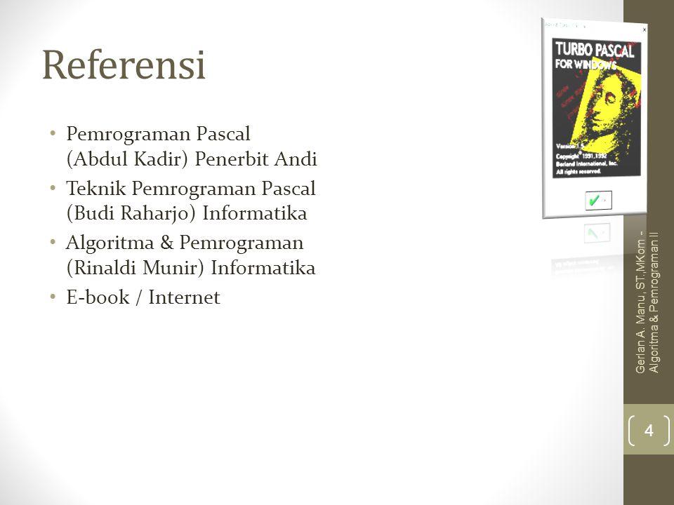 Referensi Pemrograman Pascal (Abdul Kadir) Penerbit Andi