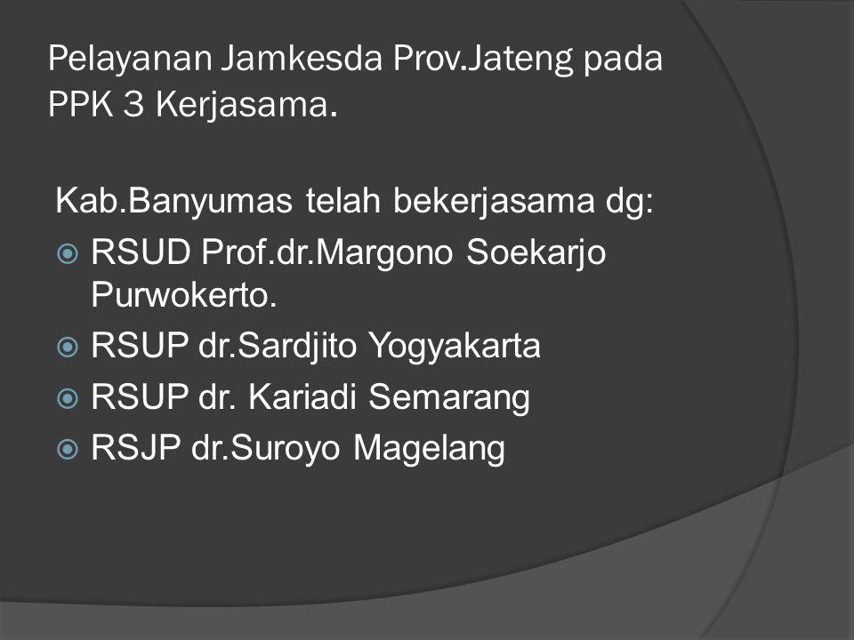 Pelayanan Jamkesda Prov.Jateng pada PPK 3 Kerjasama.