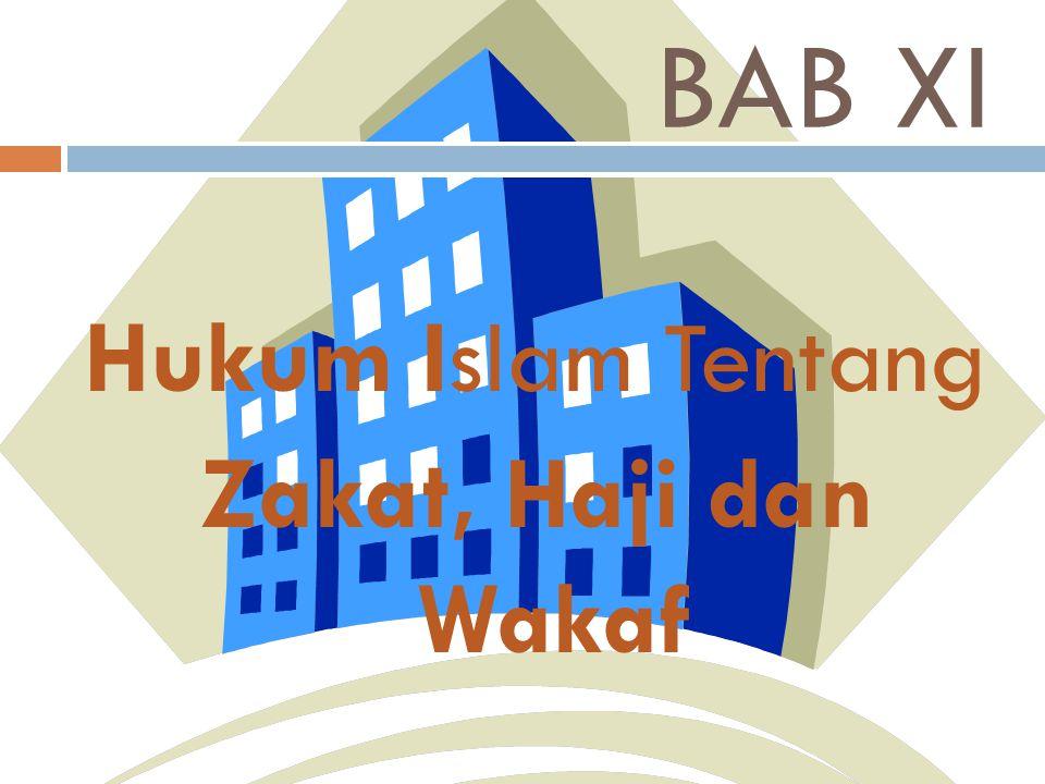 Hukum Islam Tentang Zakat, Haji dan Wakaf