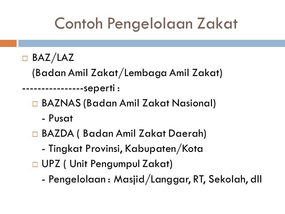 Contoh Pengelolaan Zakat