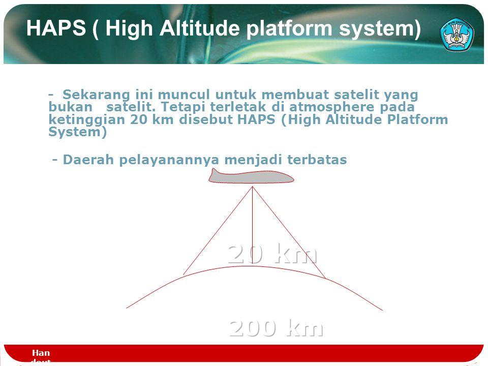 HAPS ( High Altitude platform system)