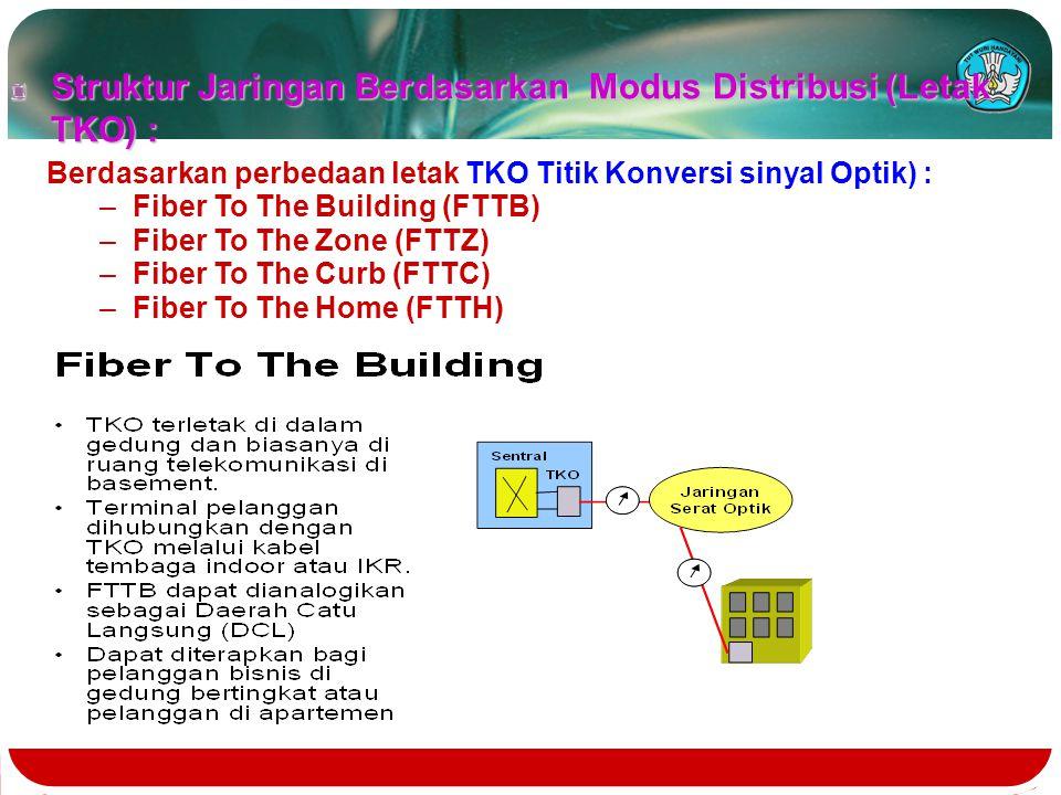 Struktur Jaringan Berdasarkan Modus Distribusi (Letak TKO) :