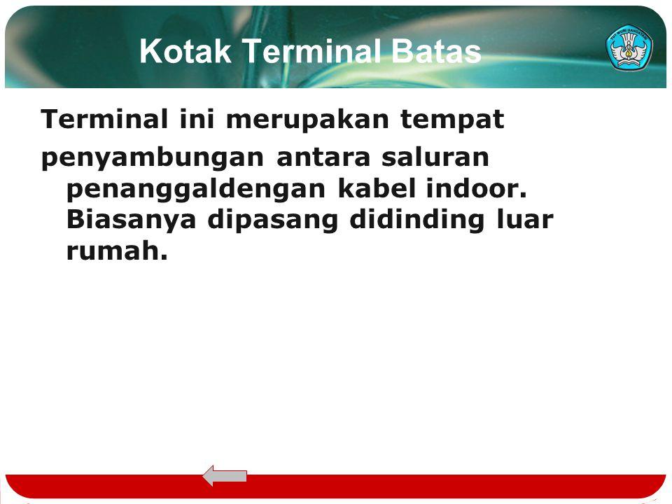 Kotak Terminal Batas Terminal ini merupakan tempat