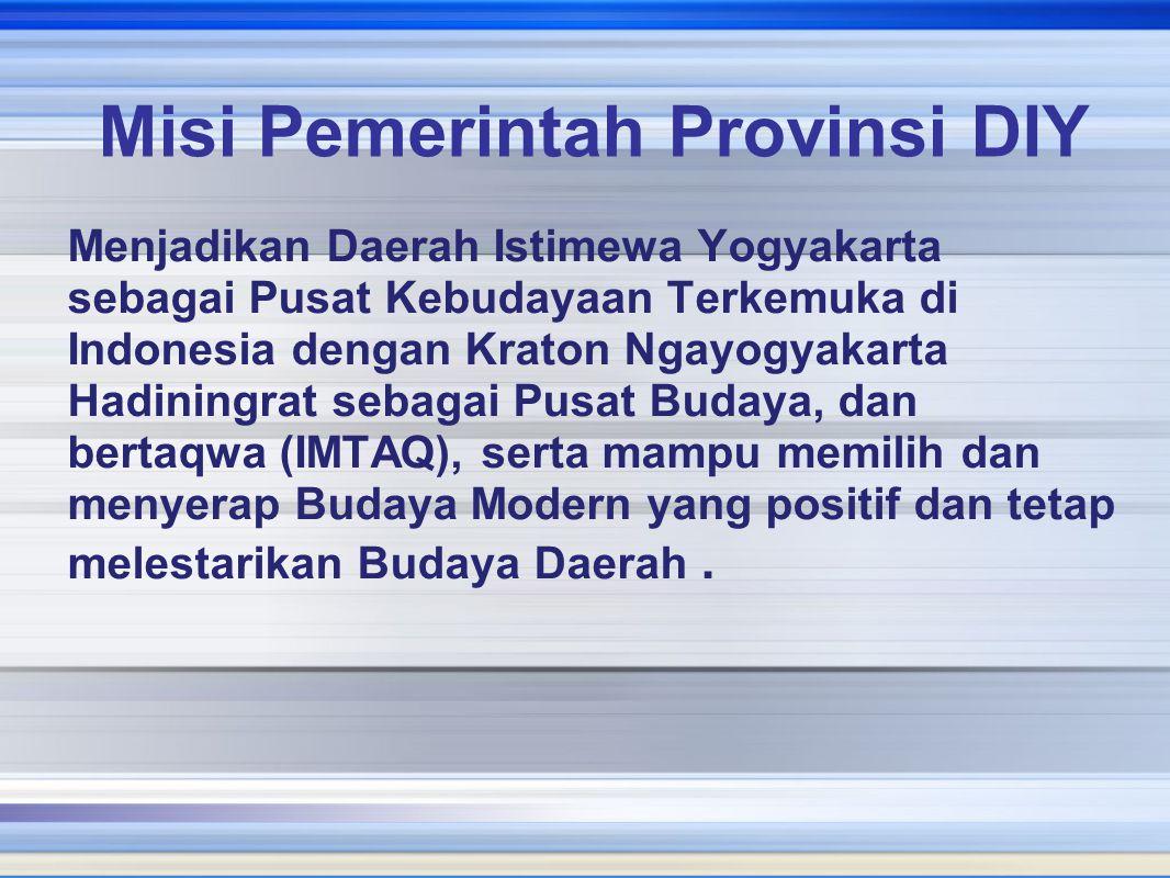 Misi Pemerintah Provinsi DIY