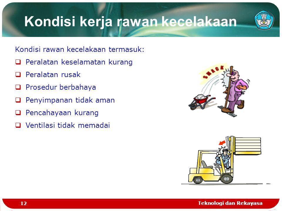 Kondisi kerja rawan kecelakaan