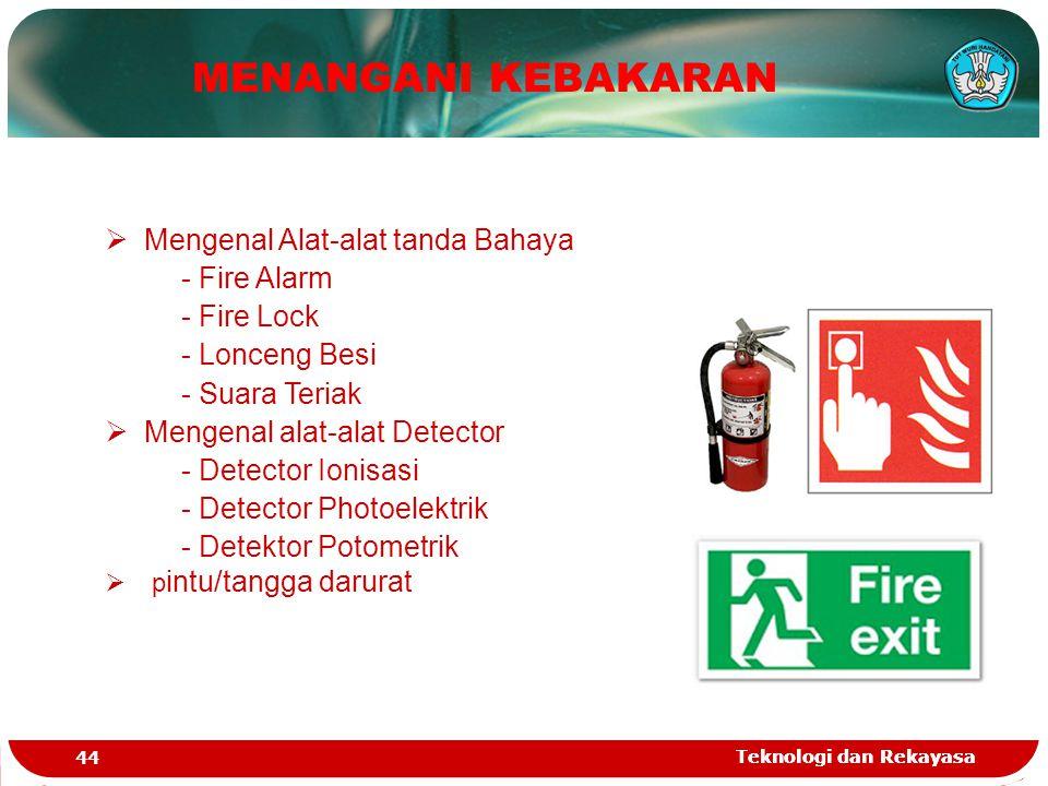 MENANGANI KEBAKARAN Mengenal Alat-alat tanda Bahaya - Fire Alarm