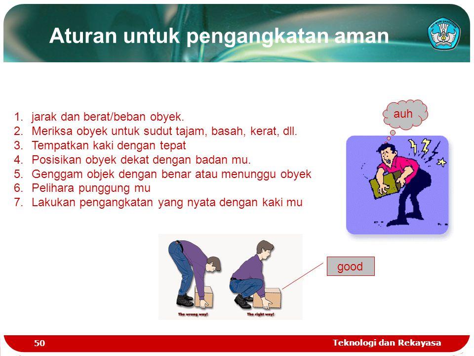 Aturan untuk pengangkatan aman