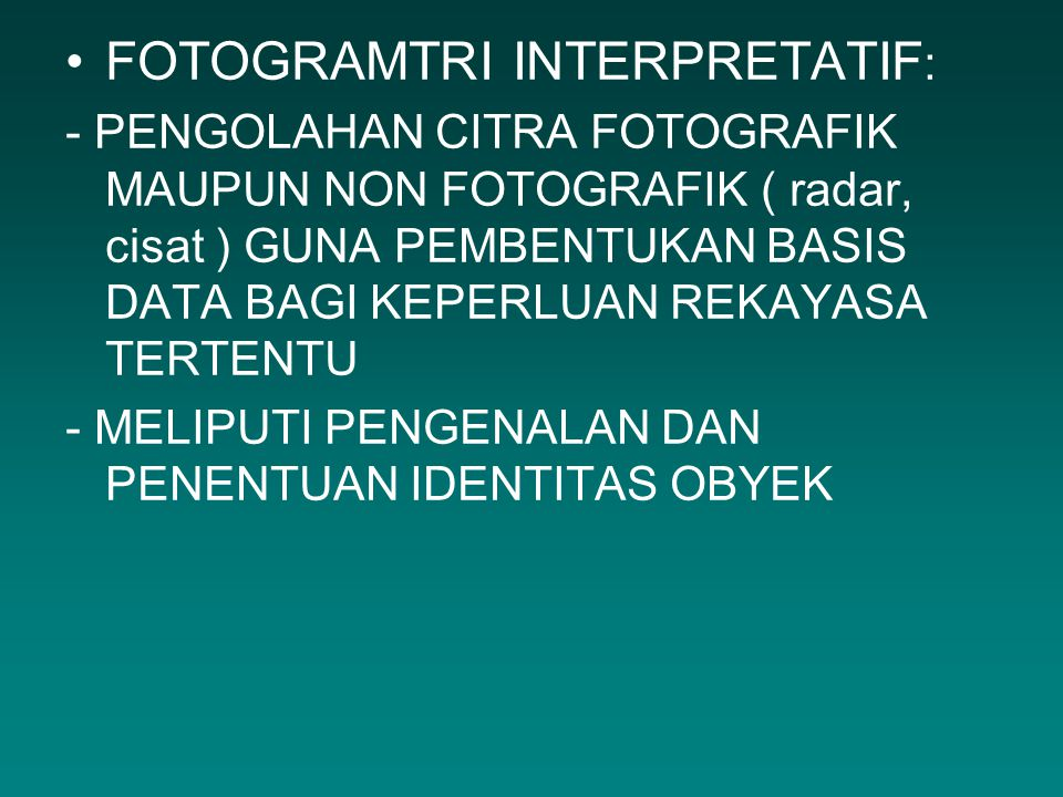 FOTOGRAMTRI INTERPRETATIF: