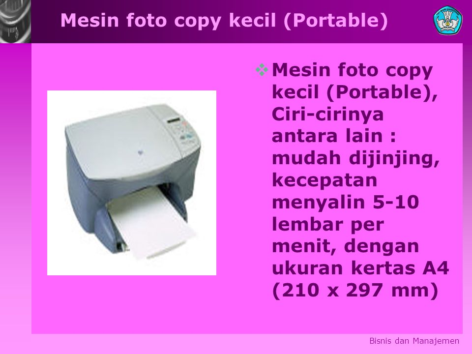 Mesin foto copy kecil (Portable)