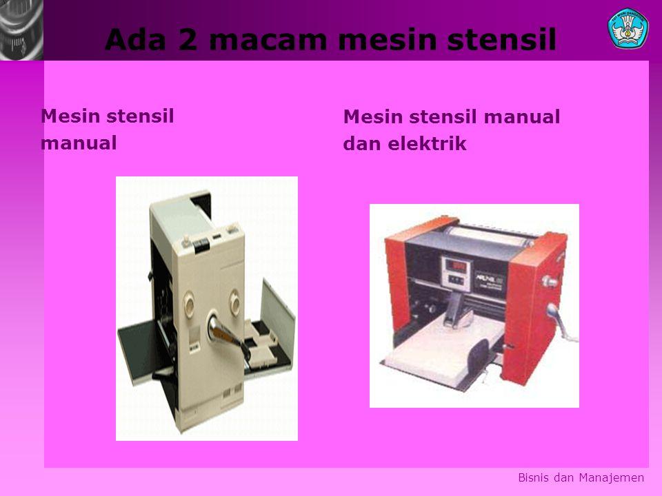 Ada 2 macam mesin stensil