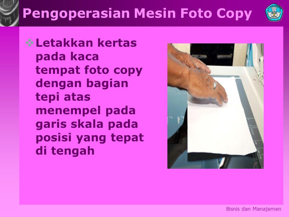 Pengoperasian Mesin Foto Copy