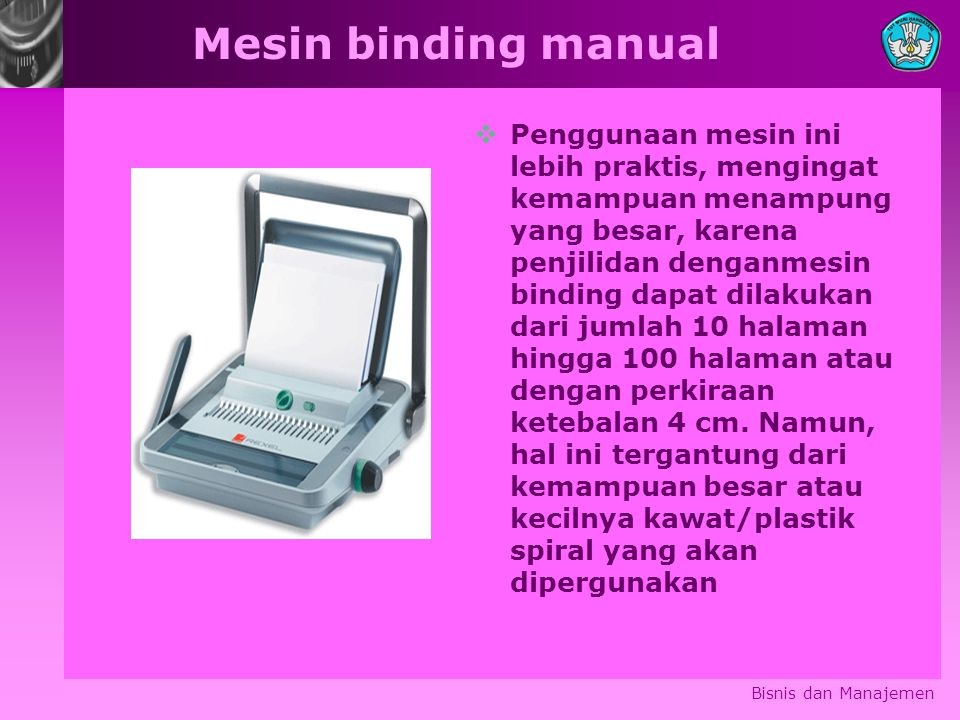 Mesin binding manual