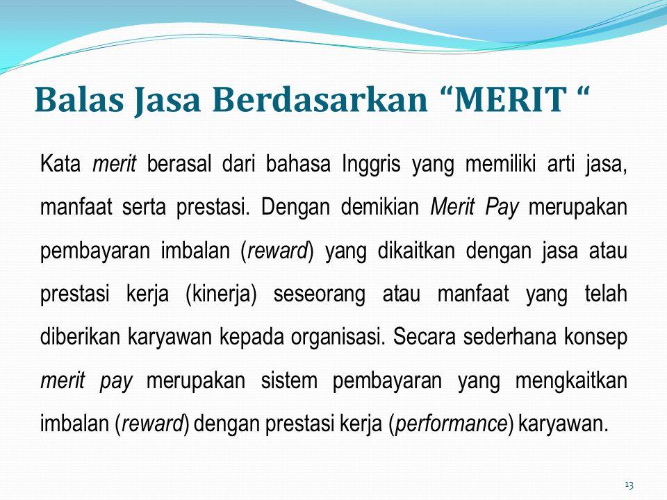 Balas Jasa Berdasarkan MERIT
