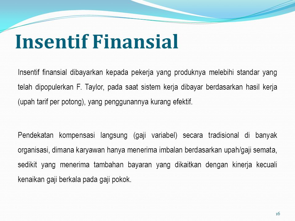 Insentif Finansial