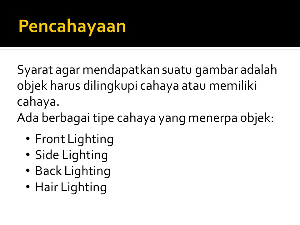 Pencahayaan