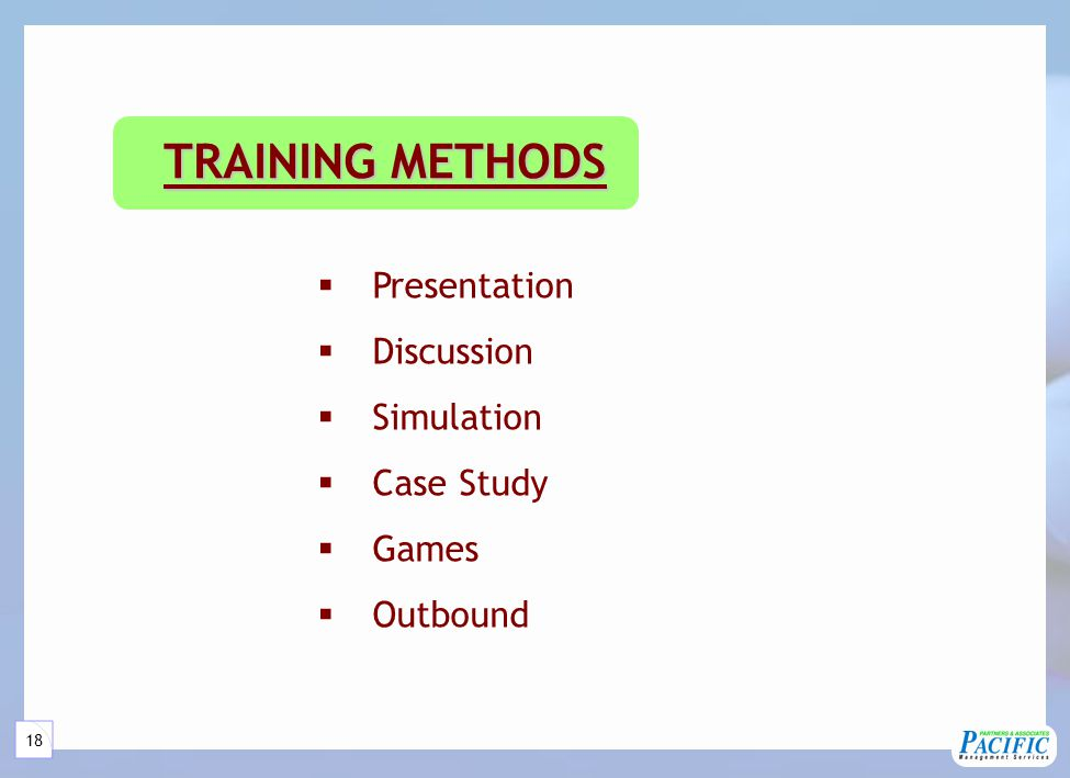 TRAINING SERVICES PROCEDURES