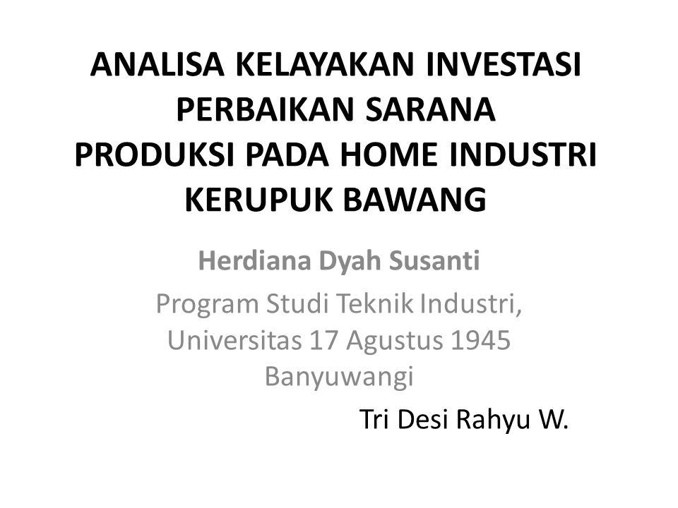 Program Studi Teknik Industri, Universitas 17 Agustus 1945 Banyuwangi