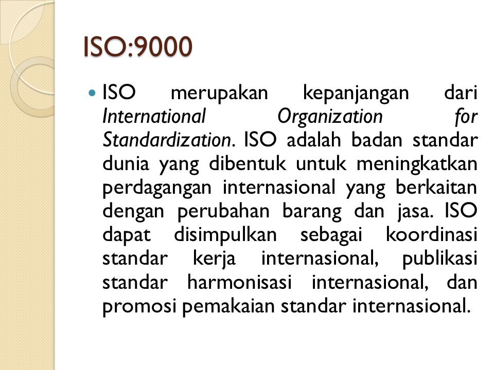 ISO:9000