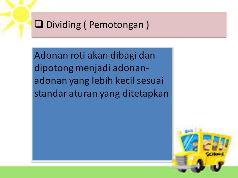 Dividing ( Pemotongan )
