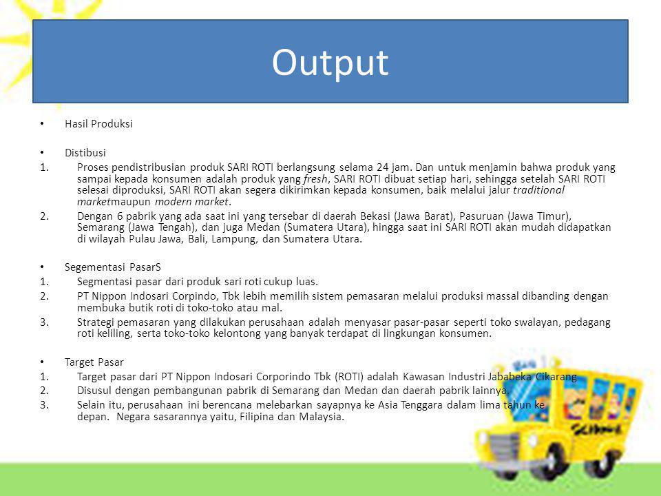 Output Hasil Produksi Distibusi