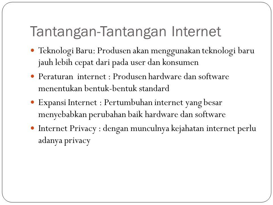 Tantangan-Tantangan Internet