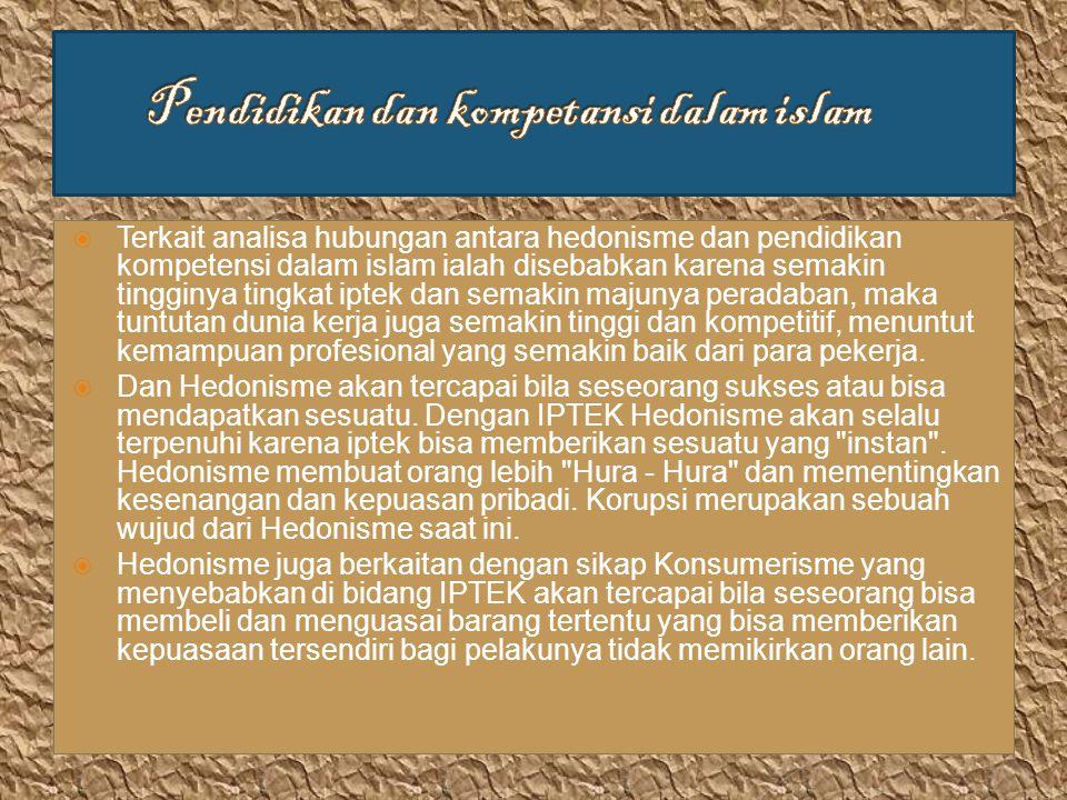 Pendidikan dan kompetansi dalam islam