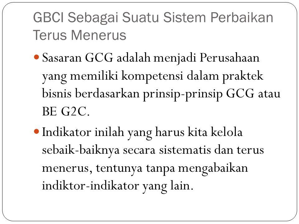 GBCI Sebagai Suatu Sistem Perbaikan Terus Menerus